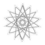 Geometrische Musterikonenstern-Astrologie gesetzter Pentagram Lizenzfreie Stockfotografie