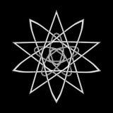 Geometrische Musterikonenstern-Astrologie gesetzter Pentagram Stockbild