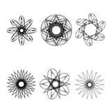 Geometrische Musterikonenstern-Astrologie gesetzter Pentagram Stockfoto