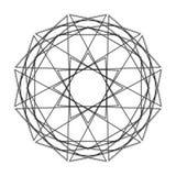 Geometrische Musterikonenstern-Astrologie gesetzter Pentagram Lizenzfreies Stockfoto