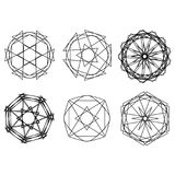 Geometrische Musterikonenstern-Astrologie gesetzter Pentagram Stockfotografie