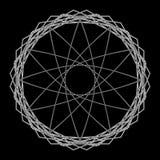Geometrische Musterikonenstern-Astrologie gesetzter Pentagram Stockbilder