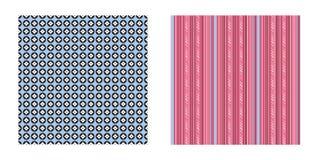 Geometrische Musterkreise und -streifen Lizenzfreies Stockfoto