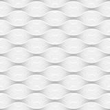 Geometrische Naadloze in de schaduw gestelde ovale vormlijnen op witte achtergrond Stock Afbeeldingen