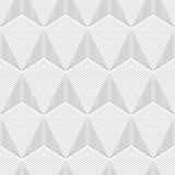 Geometrische Naadloze hexagon lijnen op witte achtergrond Stock Fotografie