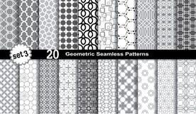 Geometrische naadloze patronen Stock Foto's