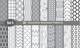 Geometrische naadloze patronen Royalty-vrije Stock Afbeeldingen
