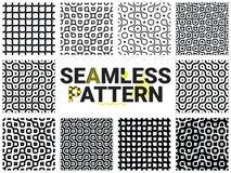 Geometrische naadloze patronen stock illustratie