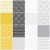 Geometrische naadloze patronen: vierkanten stock illustratie