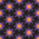 Geometrische naadloze patroon van Grunge het kleurrijke Halloween Stock Foto
