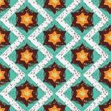 Geometrische naadloze patroon van Grunge het kleurrijke Halloween Royalty-vrije Stock Foto's