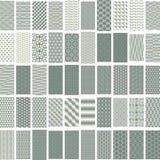 50 geometrische naadloze patroonreeks Stock Afbeeldingen