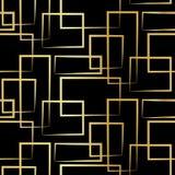 Geometrische nahtlose Beschaffenheit mit Gold-restangle Lizenzfreie Stockfotografie