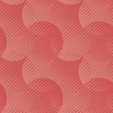 Geometrische nahtlose Motivschatten der korallenroten Farbe lizenzfreie abbildung