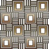 Geometrische nahtlose Verzierung für Keramik, Tapete, Gewebe, Karten Ethnisches Muster Grenzverzierung Stammes- Verzierung lizenzfreie abbildung
