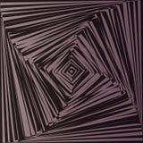 Geometrische optische illusie stock illustratie