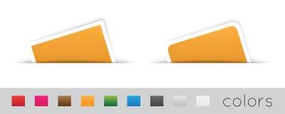 Geometrische oranje etiketten Stock Foto