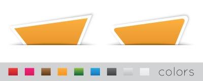 Geometrische oranje etiketten Royalty-vrije Stock Foto