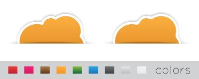 Geometrische oranje etiketten Stock Fotografie