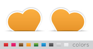 Geometrische oranje etiketten Stock Afbeelding