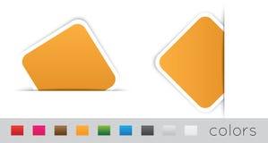 Geometrische oranje etiketten Royalty-vrije Stock Fotografie