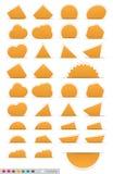 Geometrische oranje stickerreeks Royalty-vrije Stock Foto