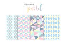 Geometrische Pastellmuster Lizenzfreie Stockbilder