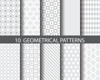 10 geometrische patronen vector illustratie