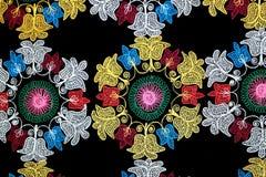 Geometrische patronen en bloemen Stock Afbeelding