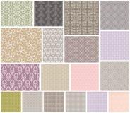 Geometrische patronen naadloze reeks Royalty-vrije Stock Fotografie