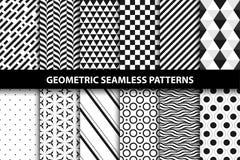 Geometrische patronen - vector naadloze inzameling Stock Foto