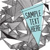 Geometrische patroon moderne achtergrond met plaats voor uw tekst Gr. Royalty-vrije Stock Afbeelding