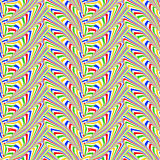 Geometrische patroon van de ontwerp het naadloze kleurrijke zigzag Royalty-vrije Stock Fotografie