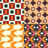 Geometrische patroonreeks Stock Afbeeldingen