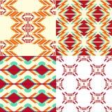 Geometrische patroonreeks Stock Foto's