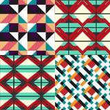 Geometrische patroonreeks Royalty-vrije Stock Foto's
