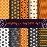 Geometrische patroonreeks, Halloween-concept Royalty-vrije Stock Afbeelding