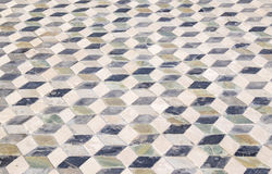 Geometrische Patroontegel in Pompei Italië stock foto's
