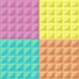 Geometrische patroontextuur Vector naadloze achtergrond Stock Afbeelding