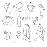 Geometrische polygonale Kristalle Lizenzfreie Stockfotos