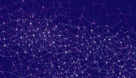 Geometrische polygonale Linien Hintergrund der abstrakten Technologie Stockbild