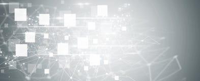 Geometrische polygonale Linien Hintergrund der abstrakten Technologie Lizenzfreies Stockbild