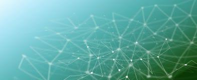 Geometrische polygonale Linien Hintergrund der abstrakten Technologie vektor abbildung