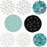 Geometrische Polygonkreise Stockfoto