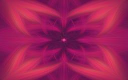 Geometrische purpere patroonfractal als achtergrond symmetrie vector illustratie