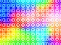 Geometrische Regenbogen-Muster-Hintergrundtapete Lizenzfreie Stockfotografie