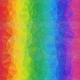 Geometrische Regenboogachtergrond van Asymmetrisch Driehoekennet vector illustratie