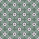 Geometrische Retro- Tapeten-nahtloses Muster Lizenzfreies Stockbild