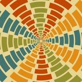 Geometrische retro vector abstracte achtergrond Royalty-vrije Stock Foto's
