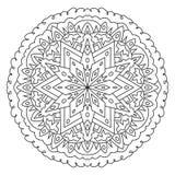 Geometrische ronde patroonmandala Stock Afbeeldingen